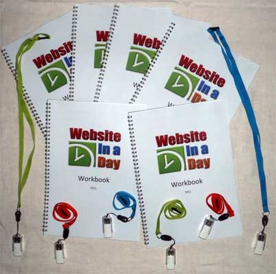 Website in a day workbooks and usb's